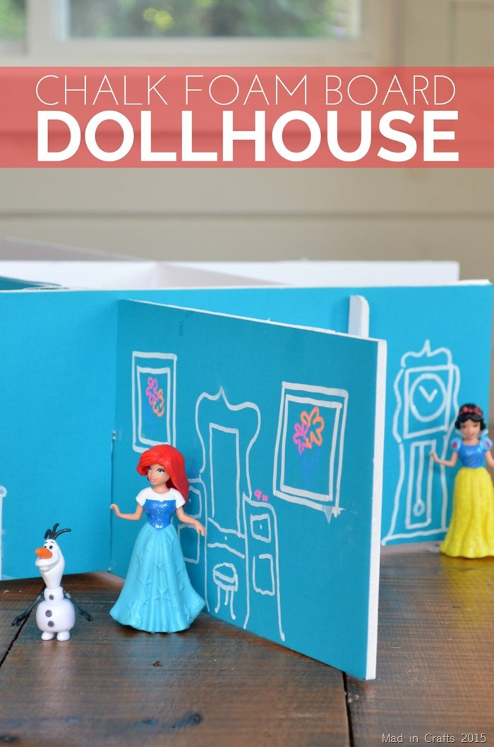 DIY Chalk Foam Board Dollhouse