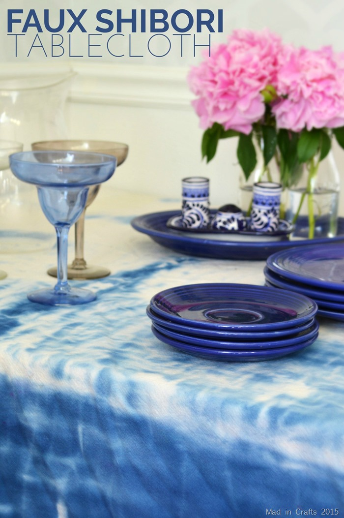 Faux Shibori Tablecloth