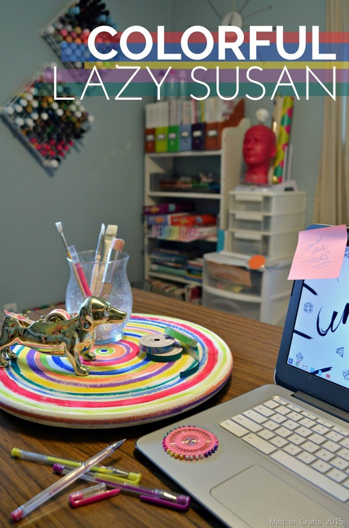 Painted Craft Room Lazy Susan