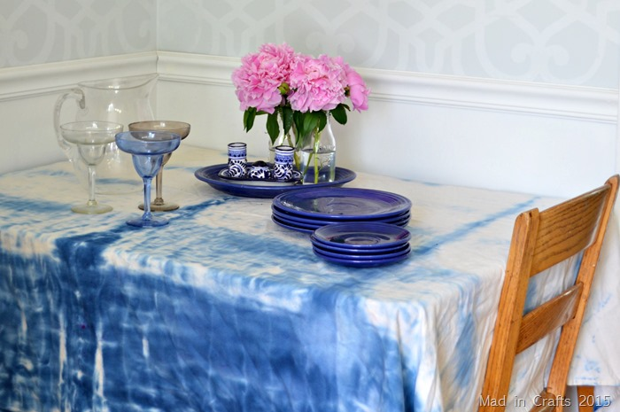 Shibori Dyed Summer Tablecloth ForRent.com