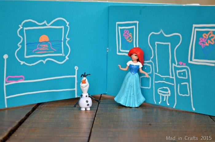 chalk foam board doll house rooms