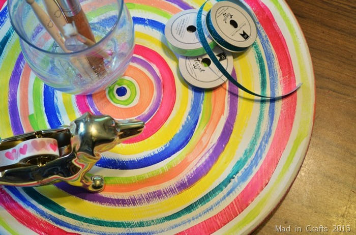 colorful painted lazy susan