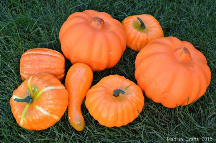 dollar store foam pumpkins