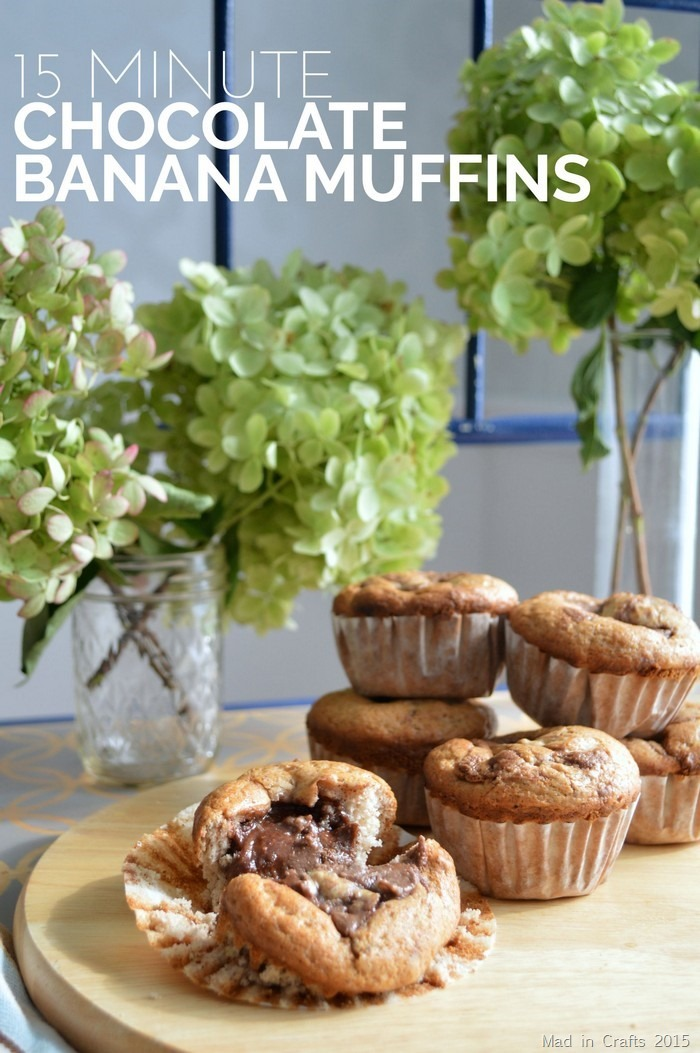 15 MINUTE CHOCOLATE BANANA MUFFIN