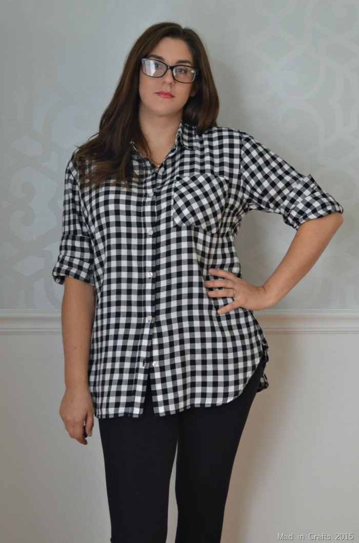 Alter a Boxy Flannel Button Down