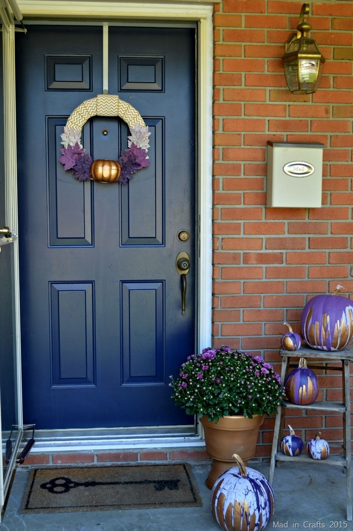 Purple Ombre Front Porch