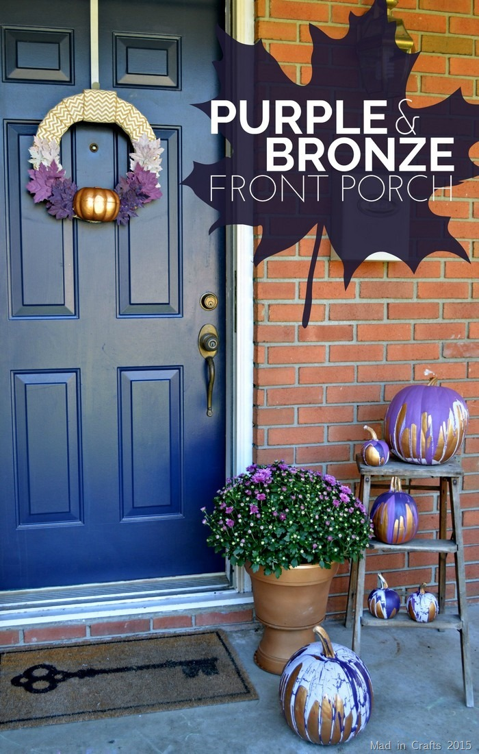 Purple and Bronze Fall Porch Decor