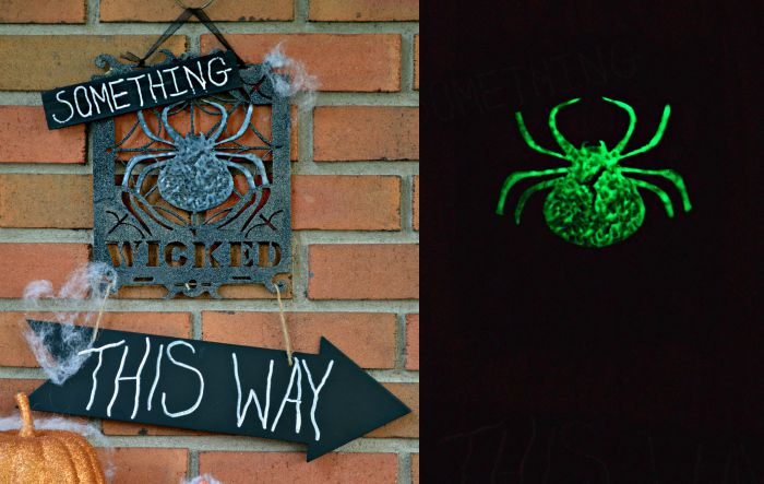 QUICK GLOW-IN-THE-DARK HALLOWEEN SIGN