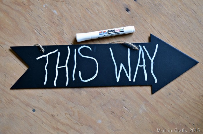 chalkboard arrow