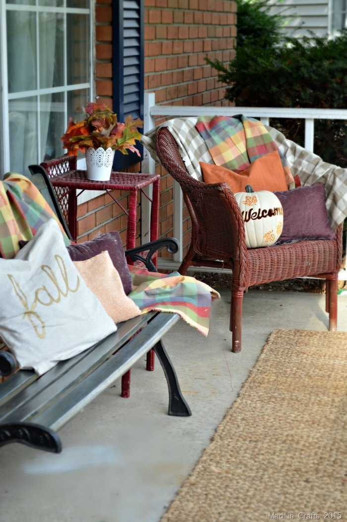 fall porch seating