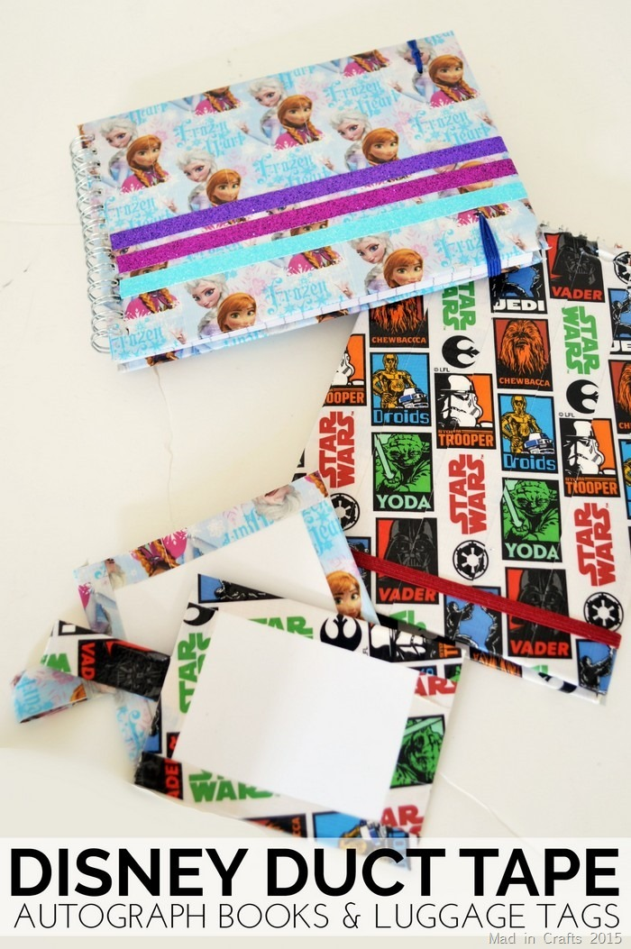 Duct Tape Disney Autograph Books Bag Tags Mad In Crafts