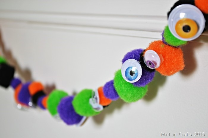 halloween monster garland