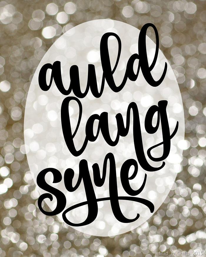 Auld Lang Syne Script