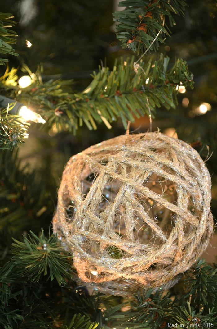 Glitter Twine Ornaments