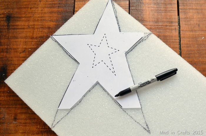 SIMPLE SPARKLY STAR TREE TOPPER Mad In Crafts