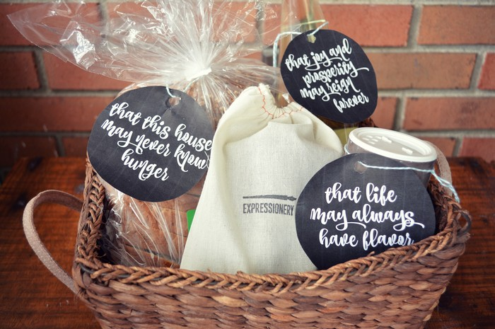 Housewarming Gift Basket Mad In Crafts