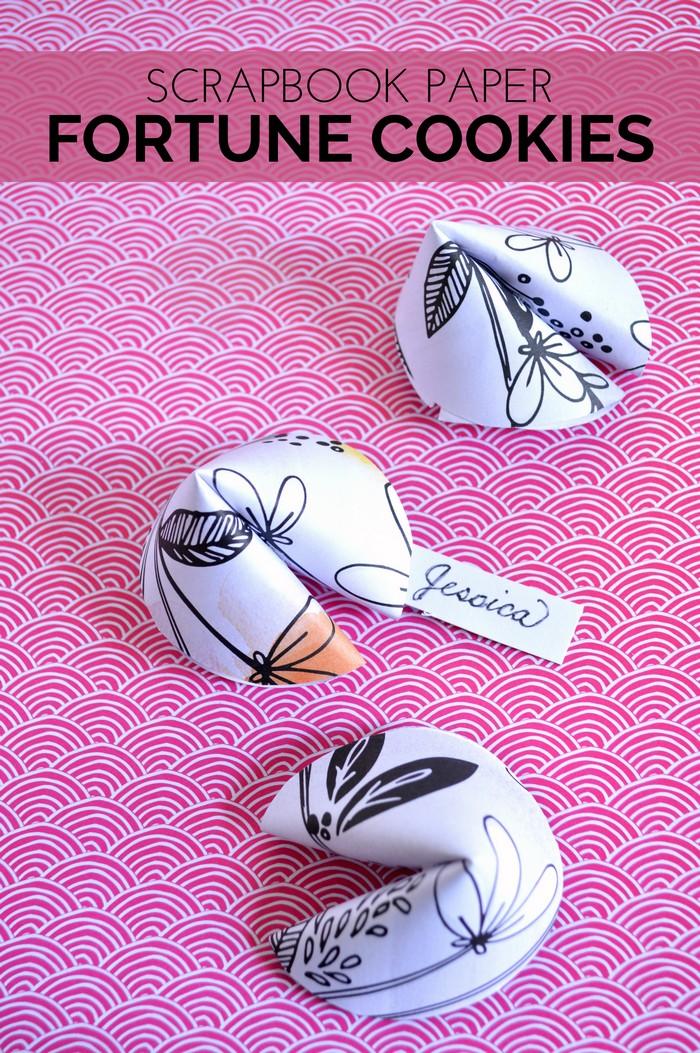 Scrapbook Paper Fortune Cookies