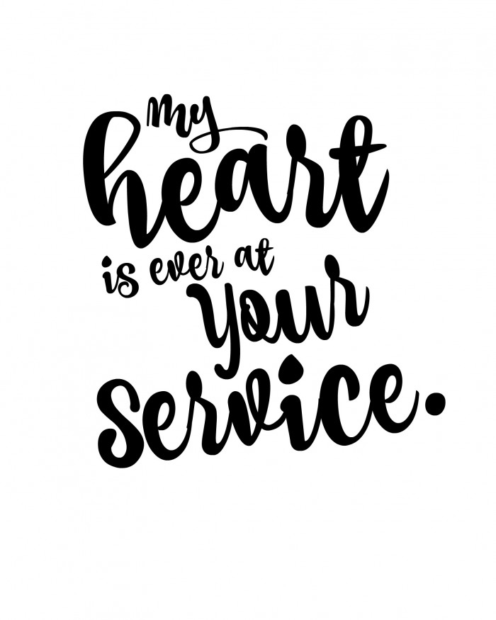 Image result for at your service lettering