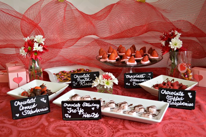 dessert table for vday
