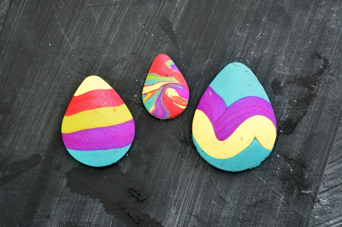 finished sculpey easter eggs