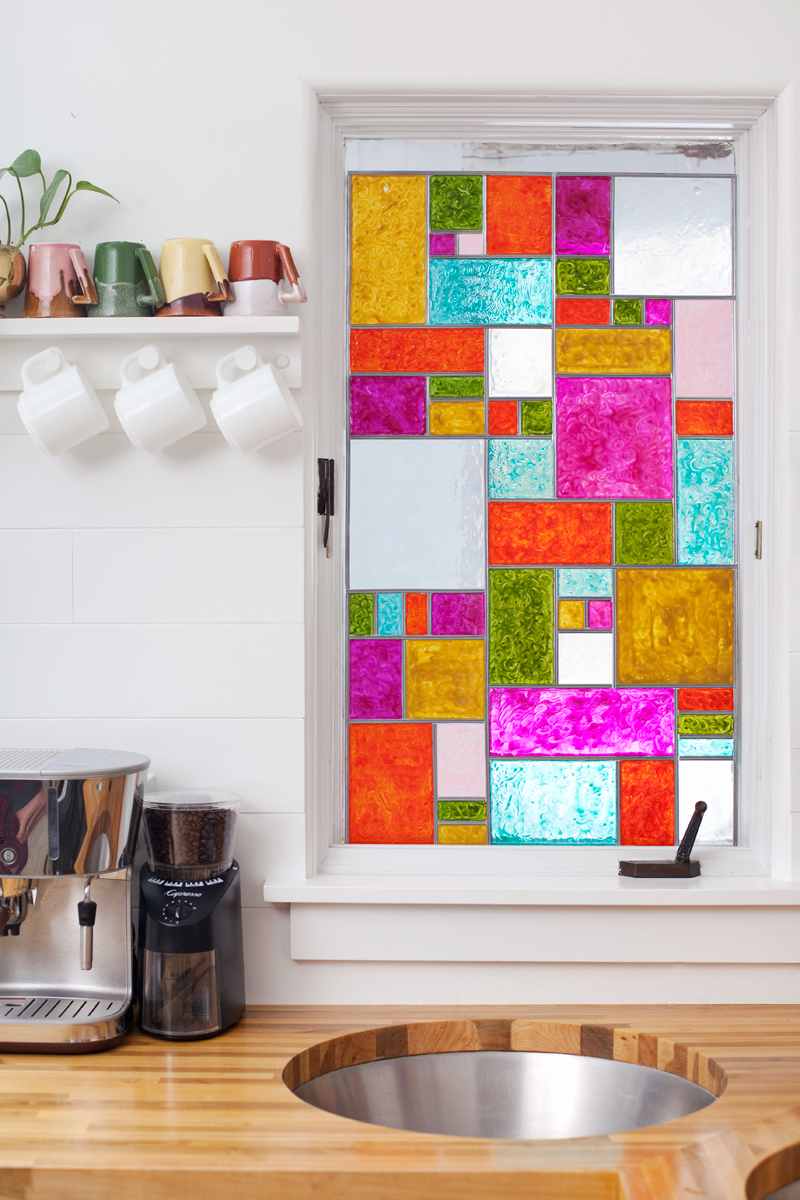 faux stained glass diy