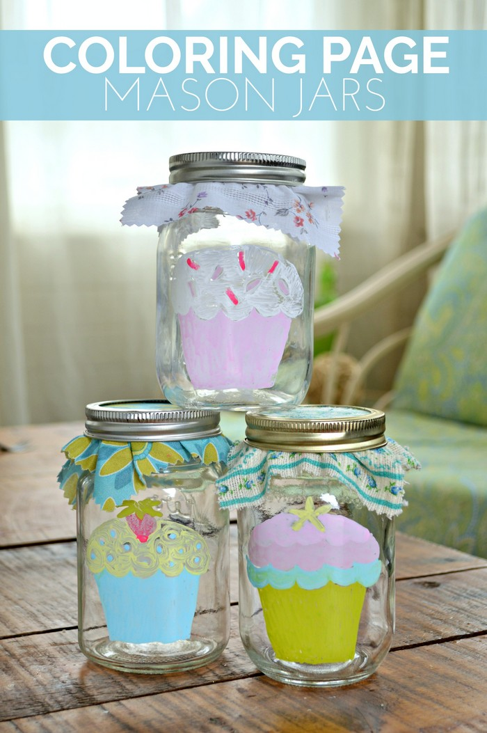 COLORING PAGE MASON JARS Mad in Crafts