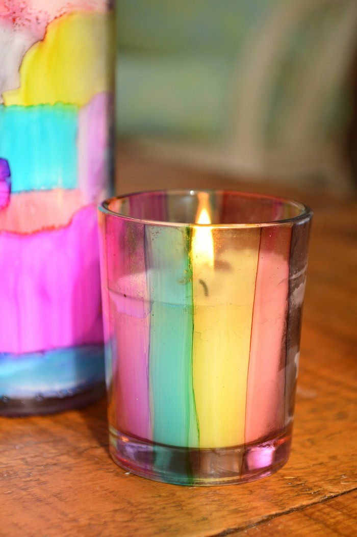 Ink Painted Candles