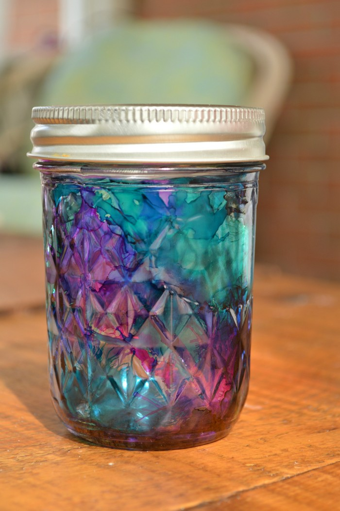 Stained Glass Mason Jar