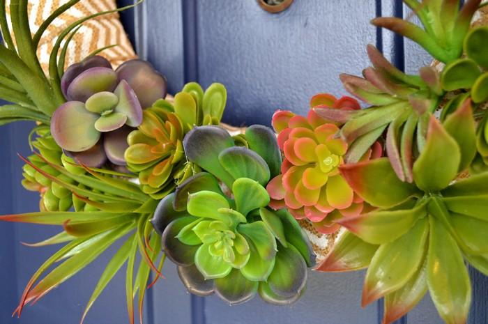 faux succulent wreath