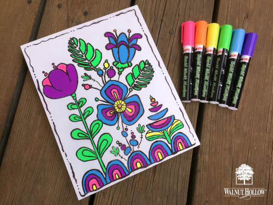 PUT THOSE COLORING PAGES TO USE!