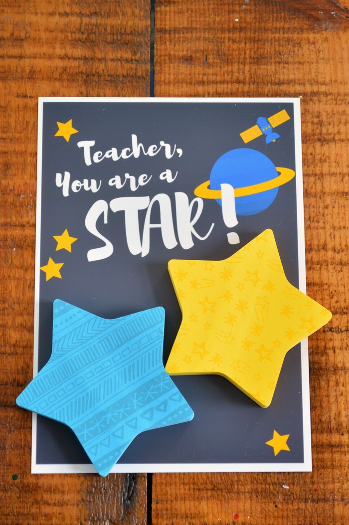 Star Post It Teacher Gifts Handmade Gifts Mad In Crafts