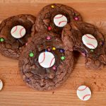 BASEBALL BROWNIE COOKIES