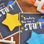 STAR POST-IT TEACHER GIFTS