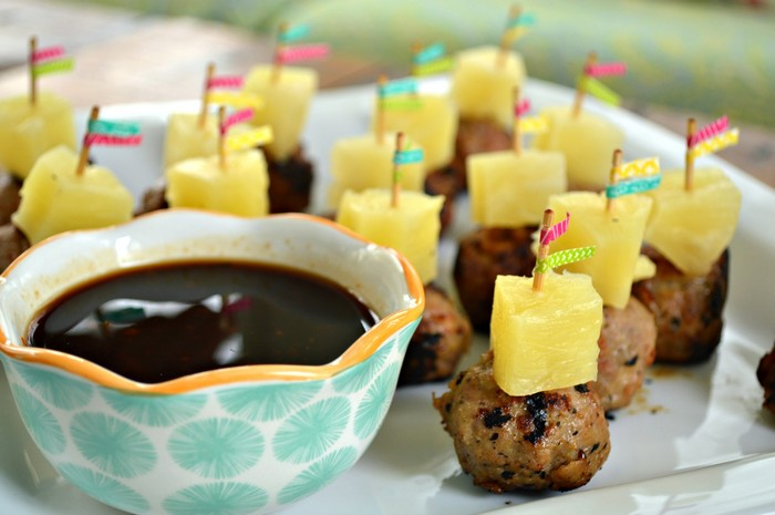 TERIYAKI PINEAPPLE MEATBALL BITES