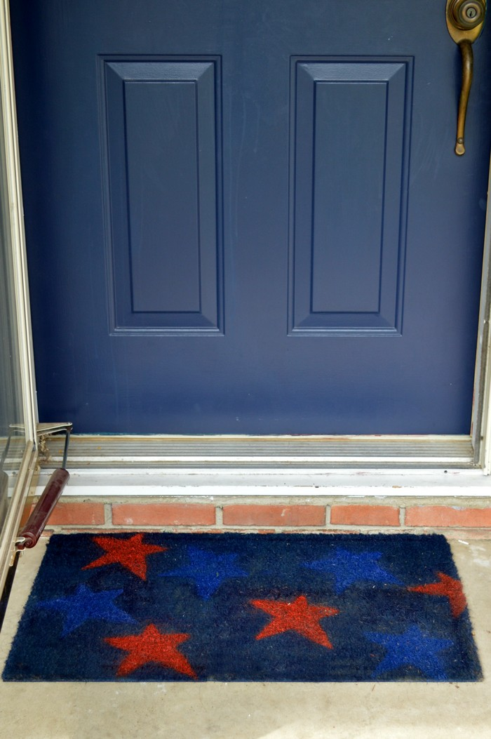 Spray Painted Doormat