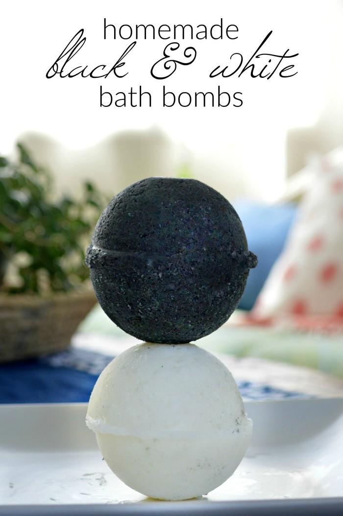 How to Make Black and White Bath Bombs