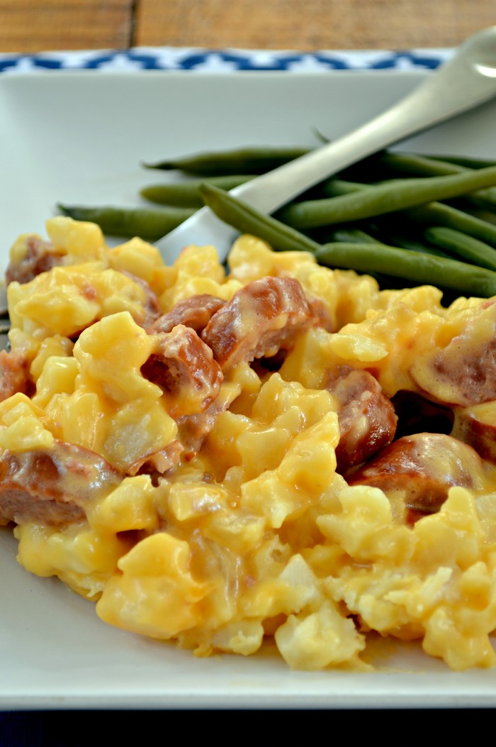 Cheesy Sausage Potato Casserole