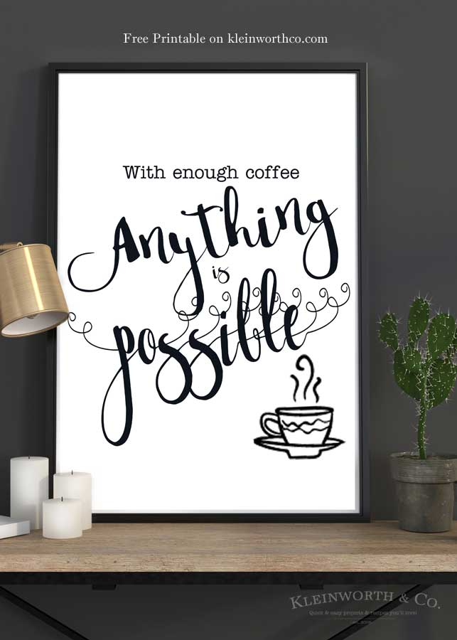Enough-Coffee-poster-on-table