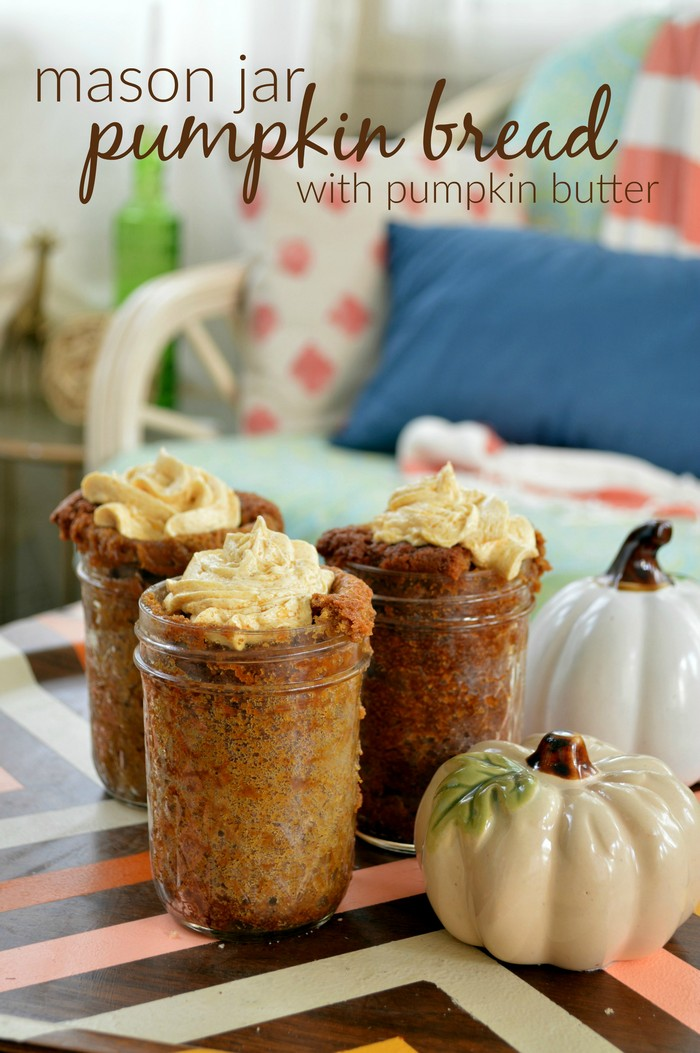 Mason Jar Pumpkin Bread with Pumpkin Butter