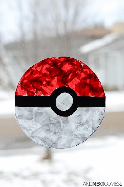 pokemon-craft-for-kids-pokeball-suncatcher-5