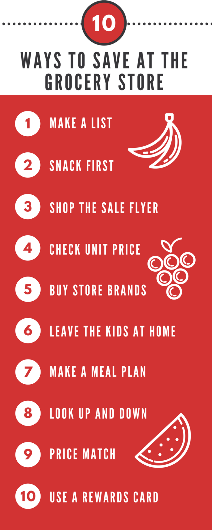 10 CLEVER WAYS TO SAVE AT THE GROCERY STORE