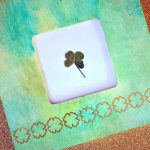 FOUR LEAF CLOVER WATERCOLOR FRAME