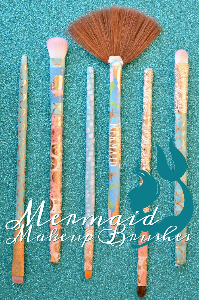 DIY MERMAID MAKEUP BRUSHES
