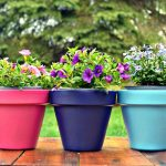 SPRAY PAINTED FLOWER POTS FOR MOTHER'S DAY