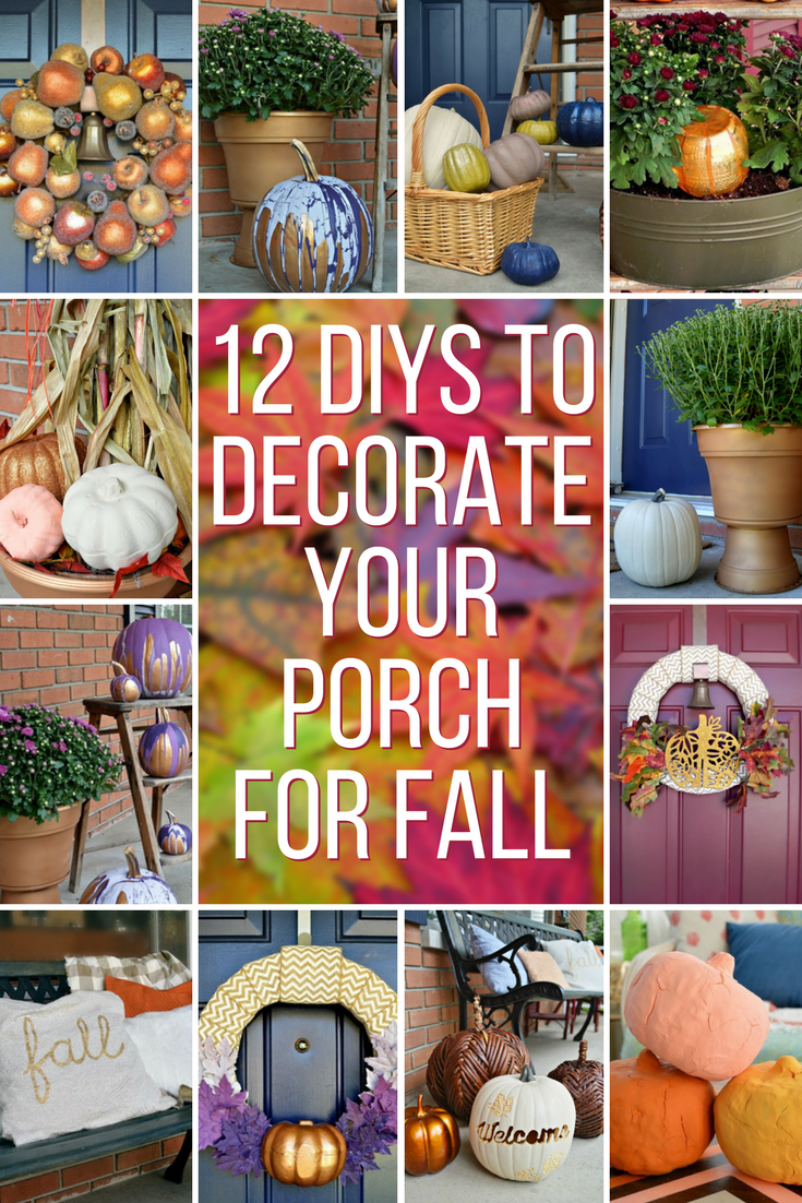 Diy ways to decorate your front porch for fall mad in crafts How to decorate your front porch for fall
