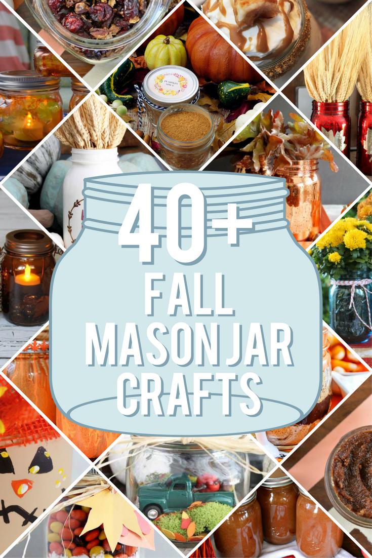 40+ FALL MASON JAR DIYS