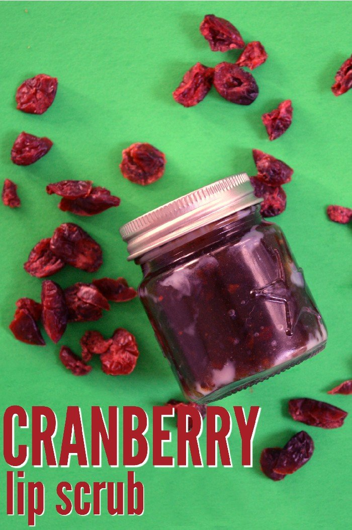 CRANBERRY LIP SCRUB – HOSTESS GIFT IDEA