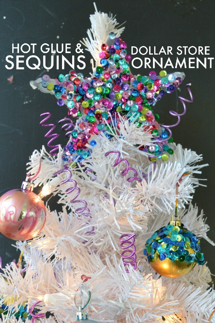 EASY HOT GLUE & SEQUIN ORNAMENT