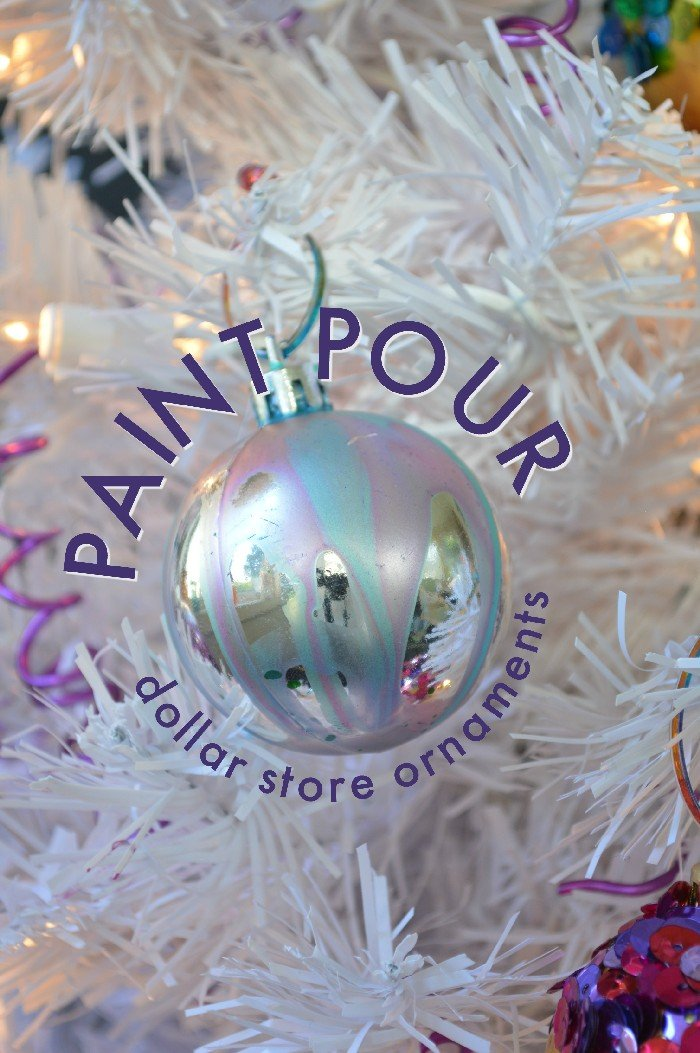 METALLIC PAINT POUR CHRISTMAS ORNAMENTS