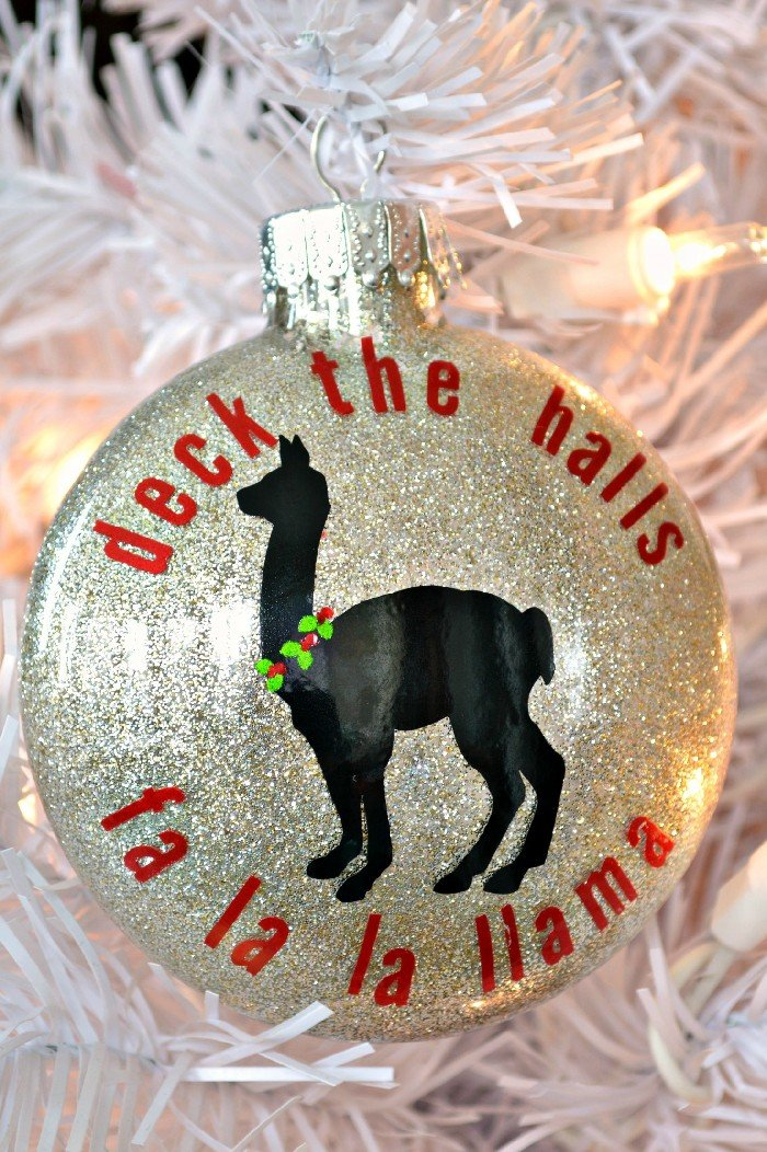fa la la llama ornament - Llama Christmas Decoration